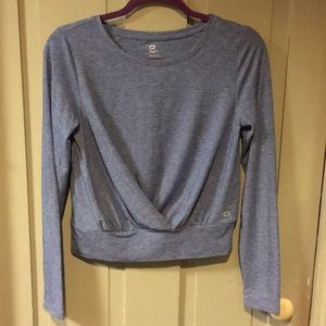 NWOT Gap Fit Crop Top w/ Draping in Front